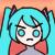 Hatsune Miku Icon Serious