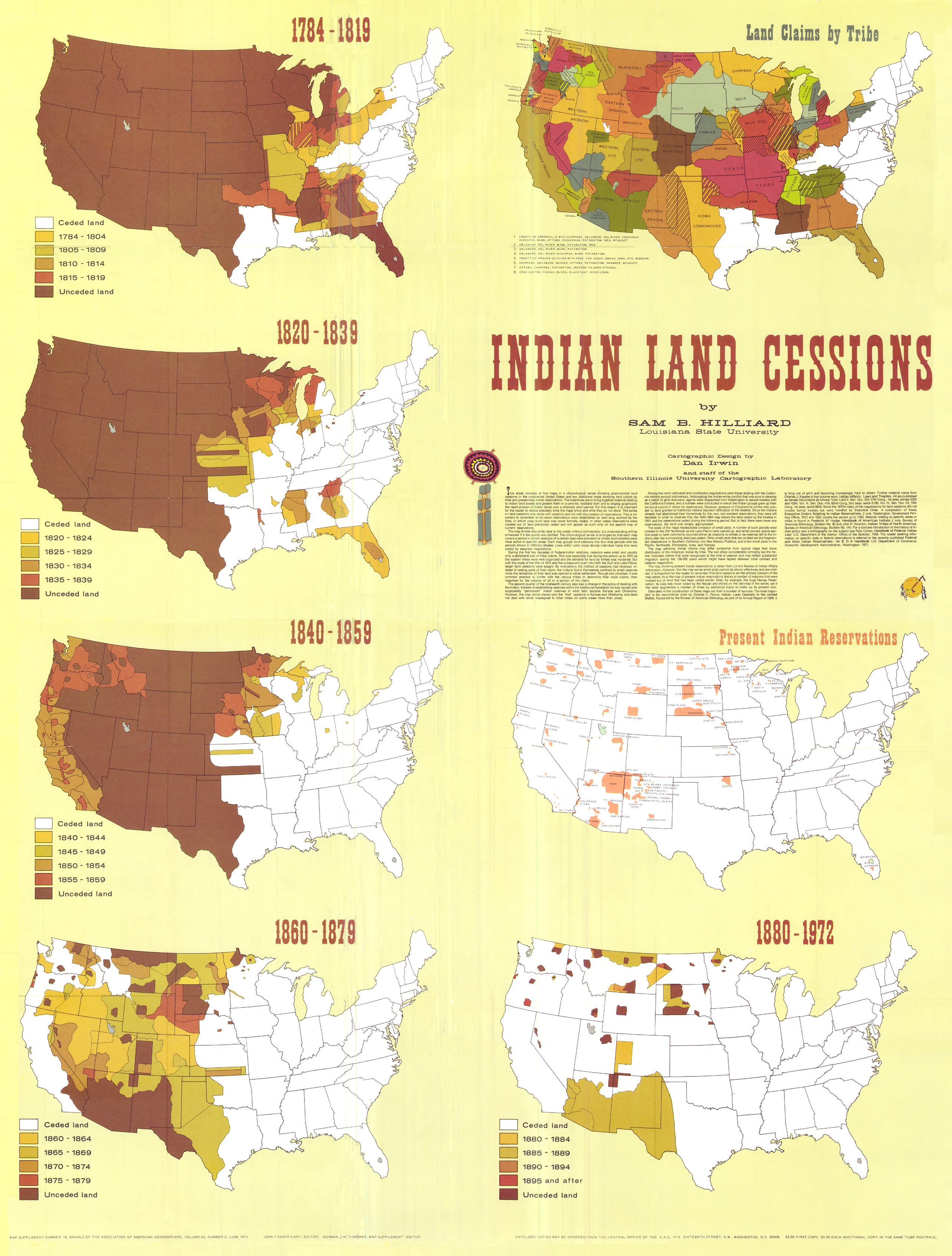 Native AmericanIndian Land Cessions By North On DeviantArt - A map of the us with land treaties