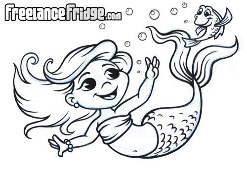Cartoon Mermaid Girl by jameskoenig1 on DeviantArt