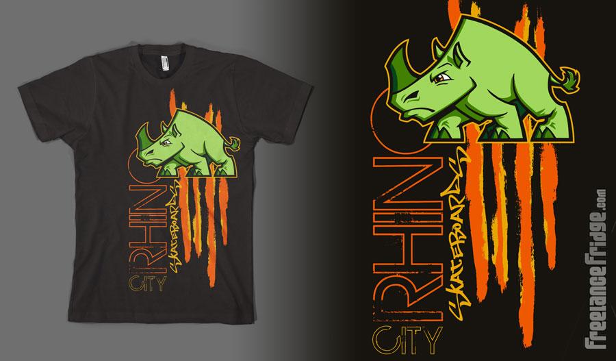 cool rhino t shirt design by jameskoenig1 on deviantart