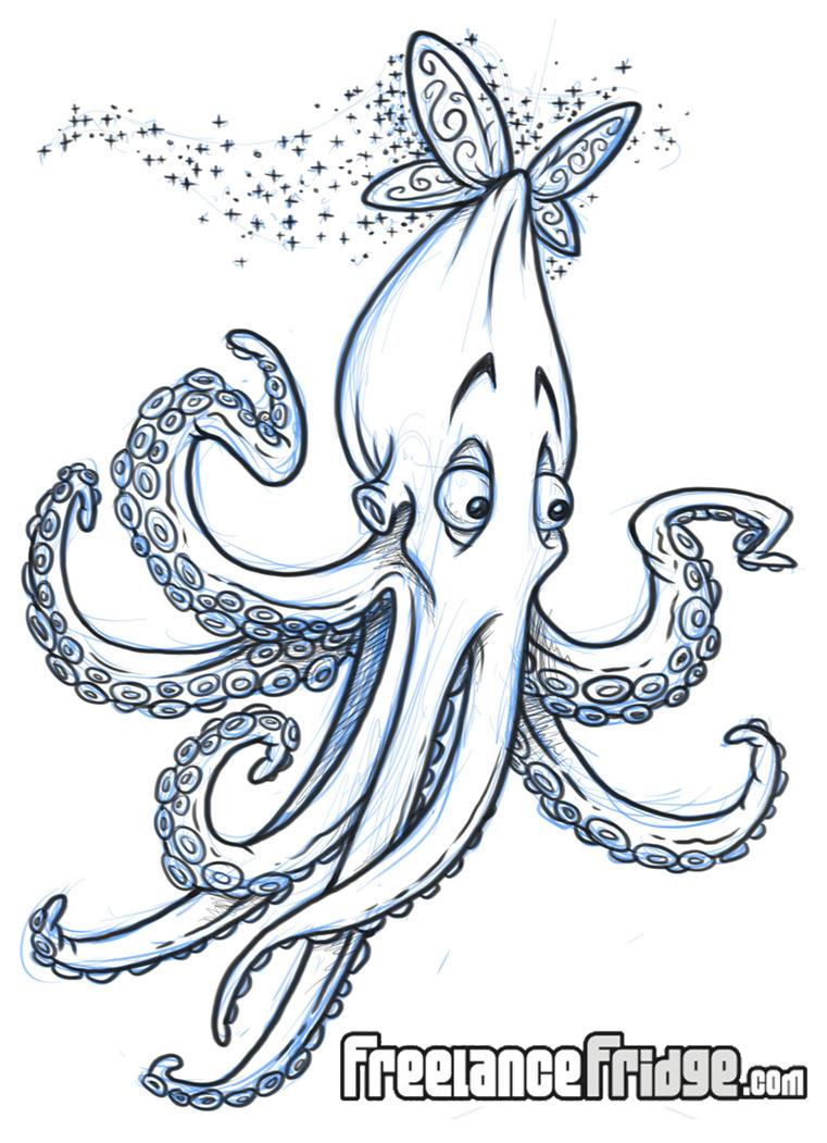 Flying Octopus Cartoon By Jameskoenig1 On Deviantart