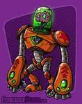 Brain Alien Robot Concept - Colored