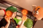 Luigi girl vs flying Goomba