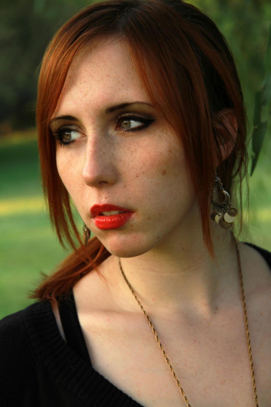 Redhead in the prairie by Stephanie-van-Rijn