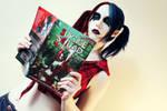 Harley reading Harley