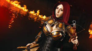 Demon Hunter in the flames by Stephvanrijn