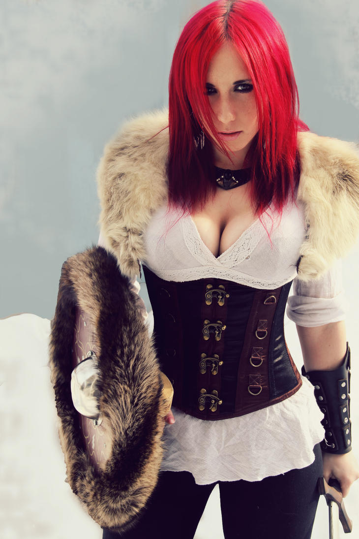 Shield Maiden in the Snow by Stephanie-van-Rijn