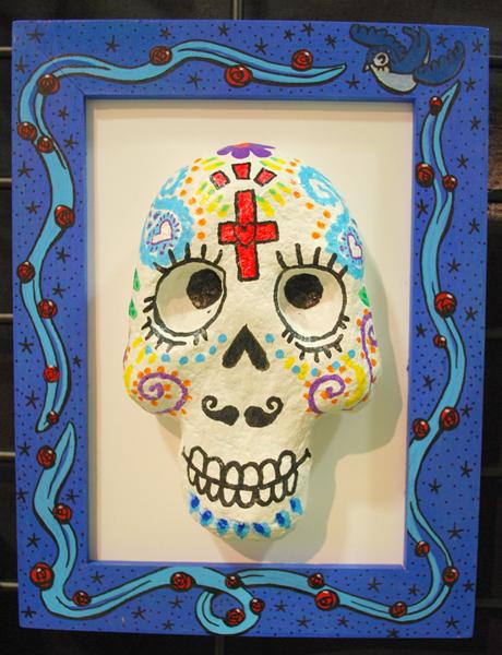 Calaveras paper skull by daqueen-one