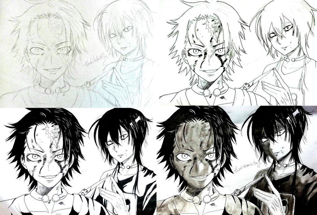 Mukai x Kurashina (Real Account) [progress] by TheKikkaKibaz