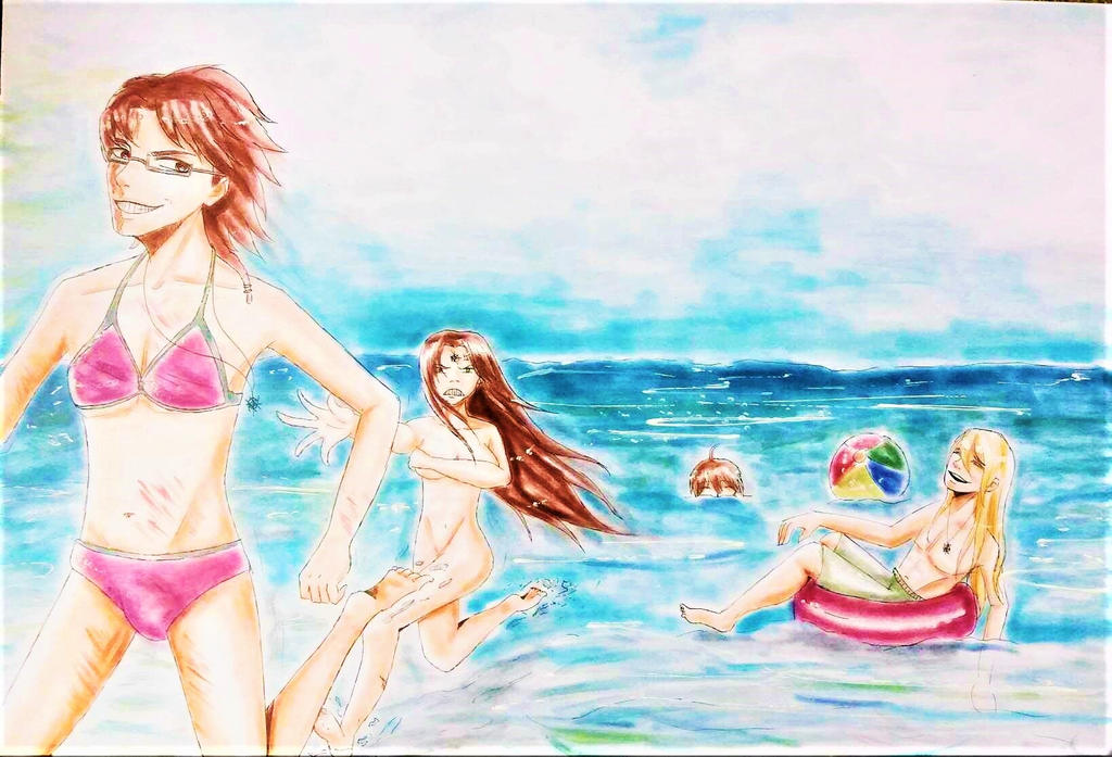 Summer Holidays on the Beach by TheKikkaKibaz