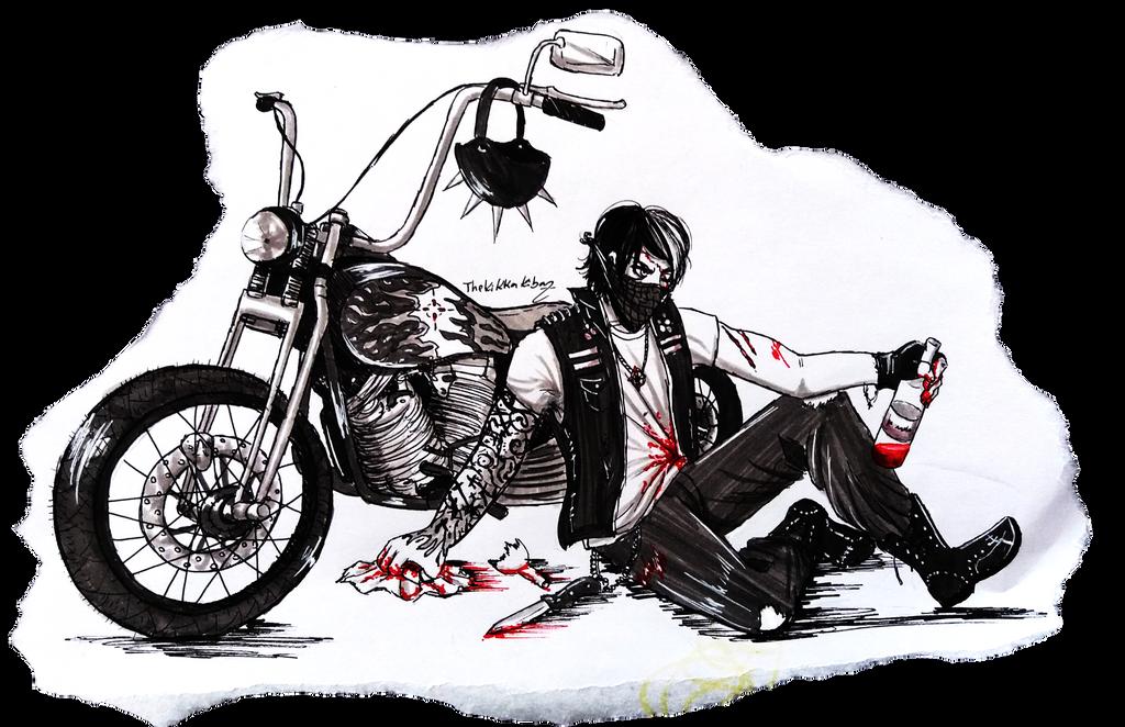 Lost Biker by TheKikkaKibaz