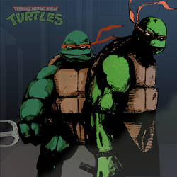 Mikey and Raph from TMNT rough by 1frankcastle4