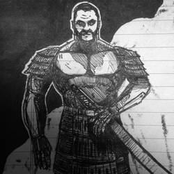 Samurai Sketch by 1frankcastle4