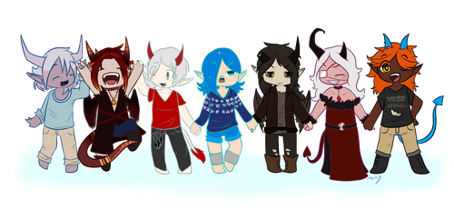 Extended gang! by MillyMop585