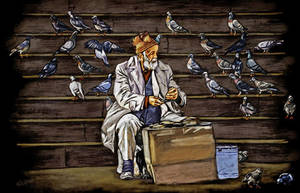 The old man and birds by egulumse