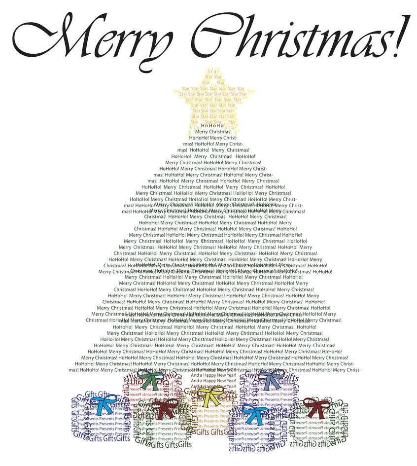 Christmas Tree Text Art by NotaNameWaster on DeviantArt