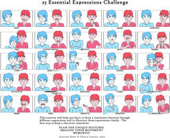 25 Expressions Challenge - Left and Right Brain by NotaNameWaster
