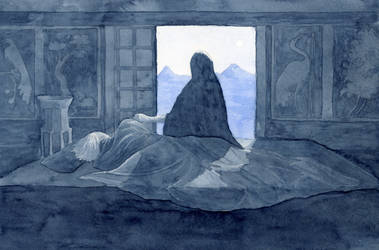 Night scene in indigo updated by PetStudent