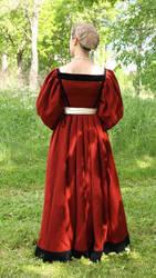 Renaissance wool dress, back view by PetStudent