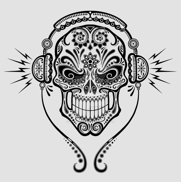 sugar skull designs coloring pages - photo#32