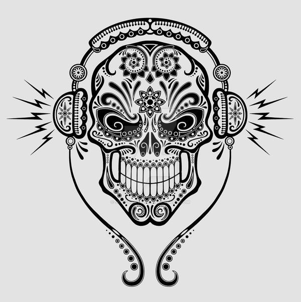 DJ Sugar Skull By Jeff Bartels ...