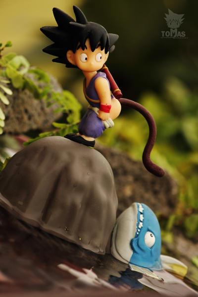Kid S goku and the Big Fish II by jeffbedash325
