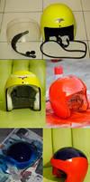 The making of my great saiayaman helmet hehe