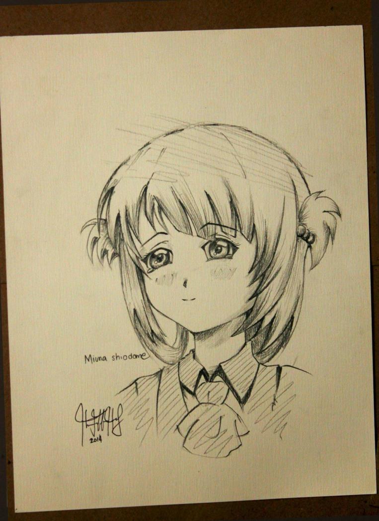 Miuna shiodome of Nagi no Asukara by jeffbedash325