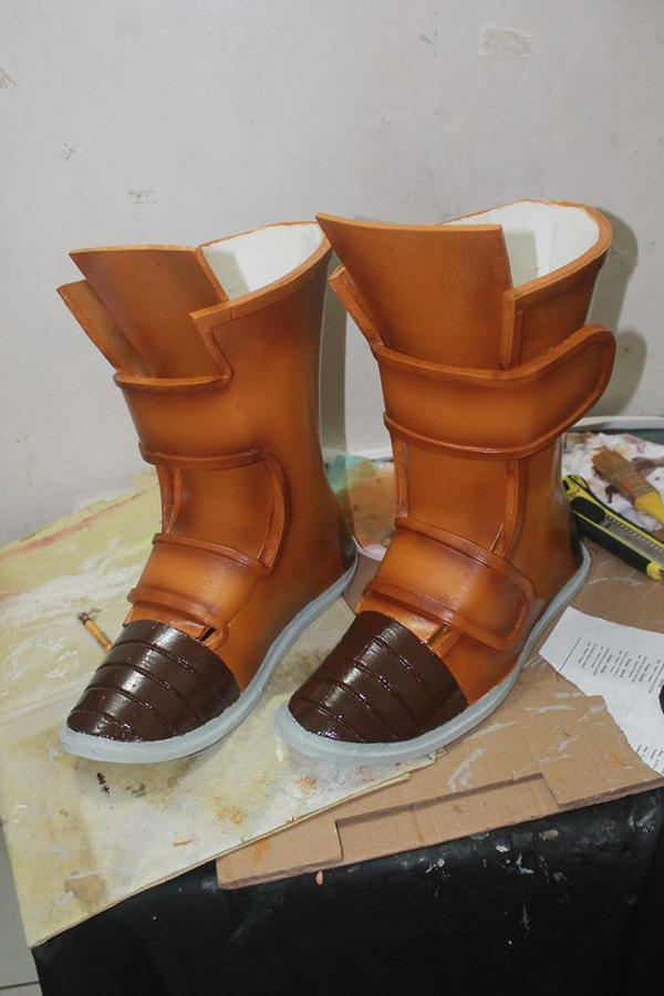 Dragonball Z Trunks Boots by jeffbedash325