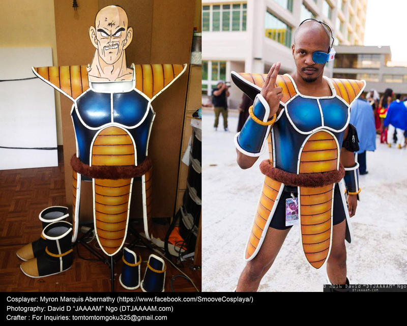 Dragonball Z Nappa SaIyan armor and Cosplay by jeffbedash325