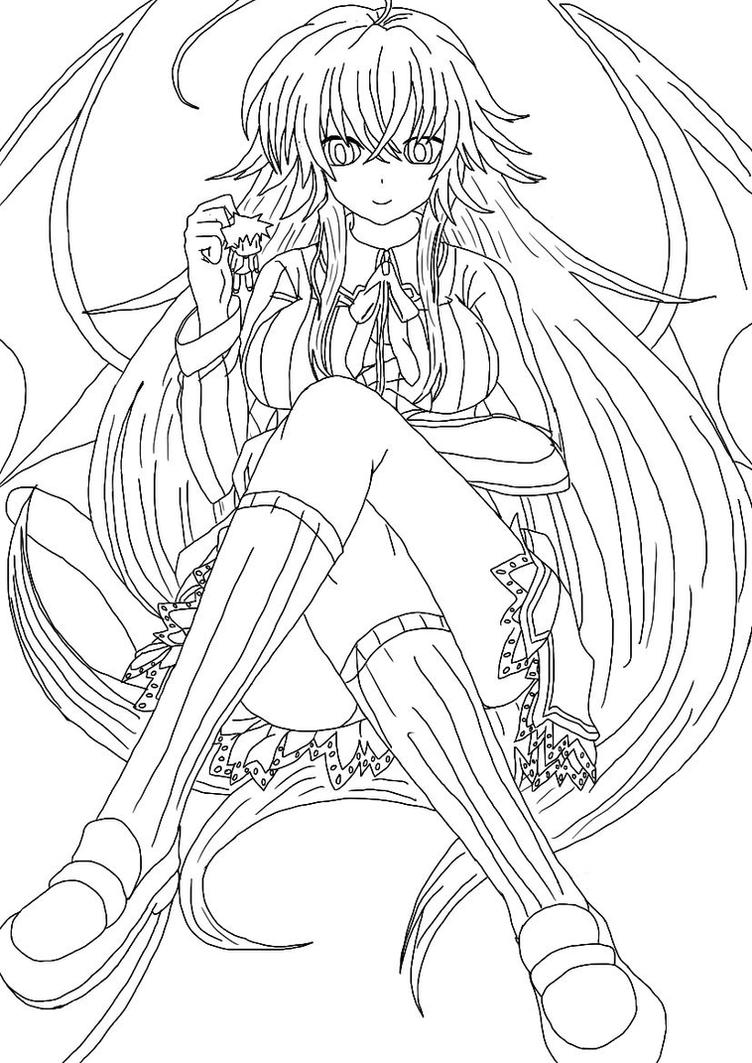 Rias Outline by Draugline on DeviantArt