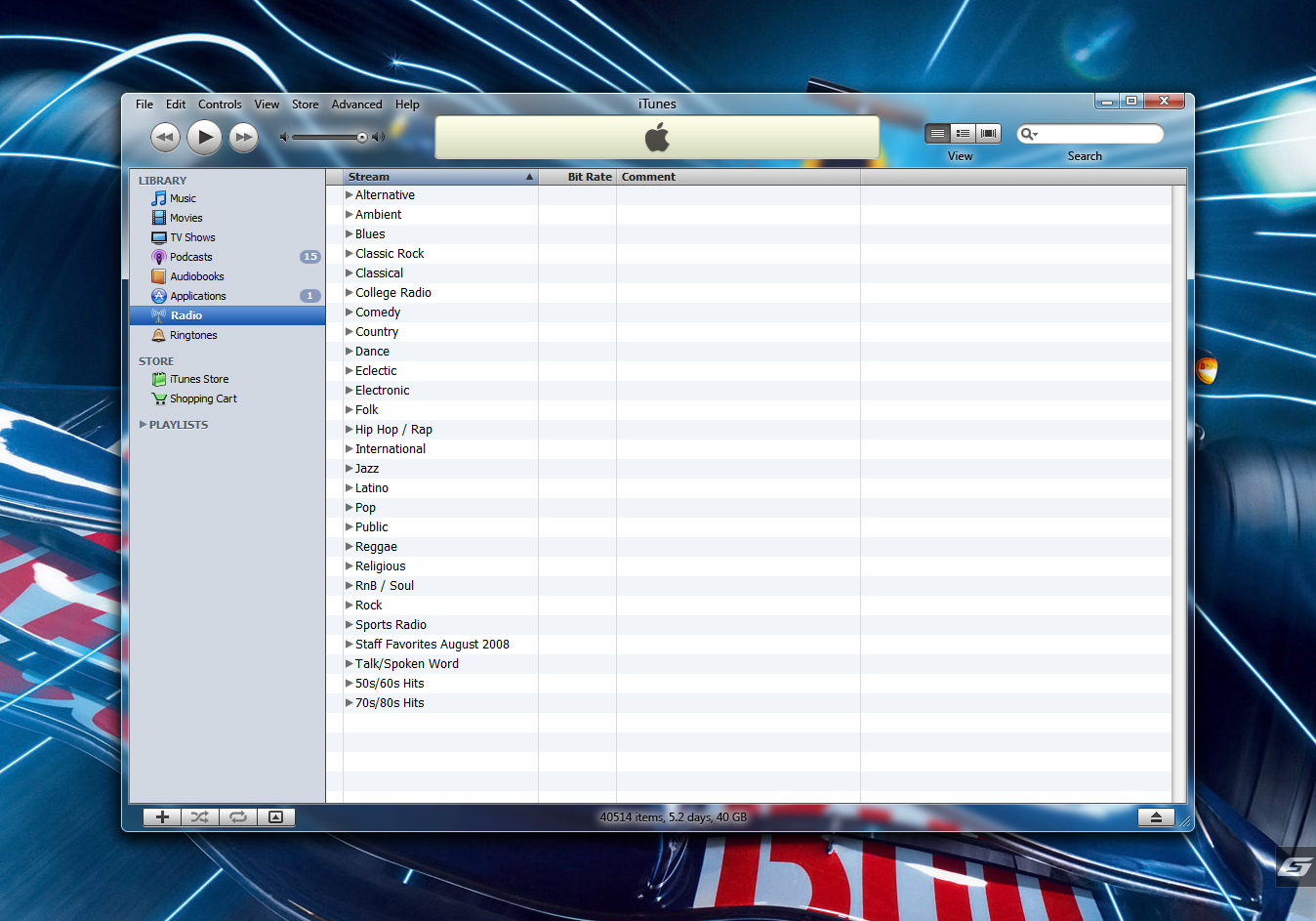iTunes Aero for Windows Vista by 5-G