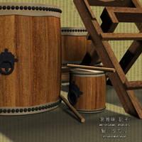taiko -japanese fat drums- by Ayukawataur
