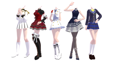 TDAxIdolm@ster Outfits Pack DOWNLOAD