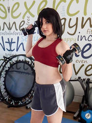 Workout Mikasa Cosplay by naysimo
