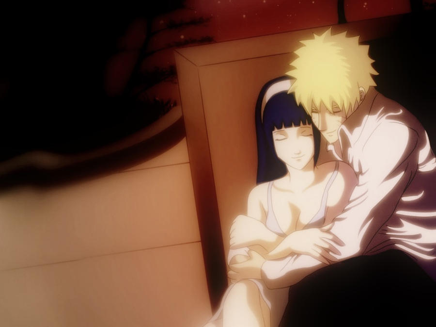 Naruhina Hug Wallpaper by VoidGalaxy