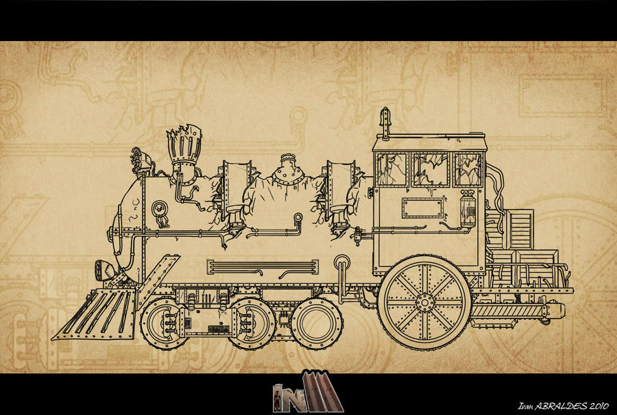 Steampunk Train Concept Art Train Concept Art by ia Design