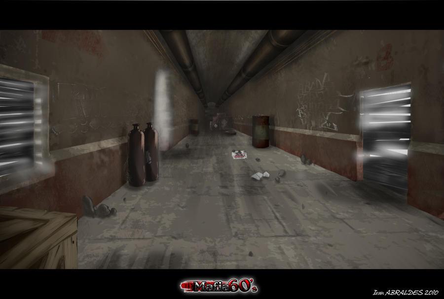 Decor couloir sombre by ia-design on DeviantArt