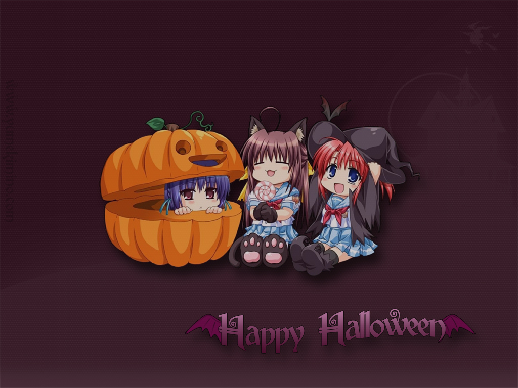 Cute Halloween Wallpaper by YumeKimino
