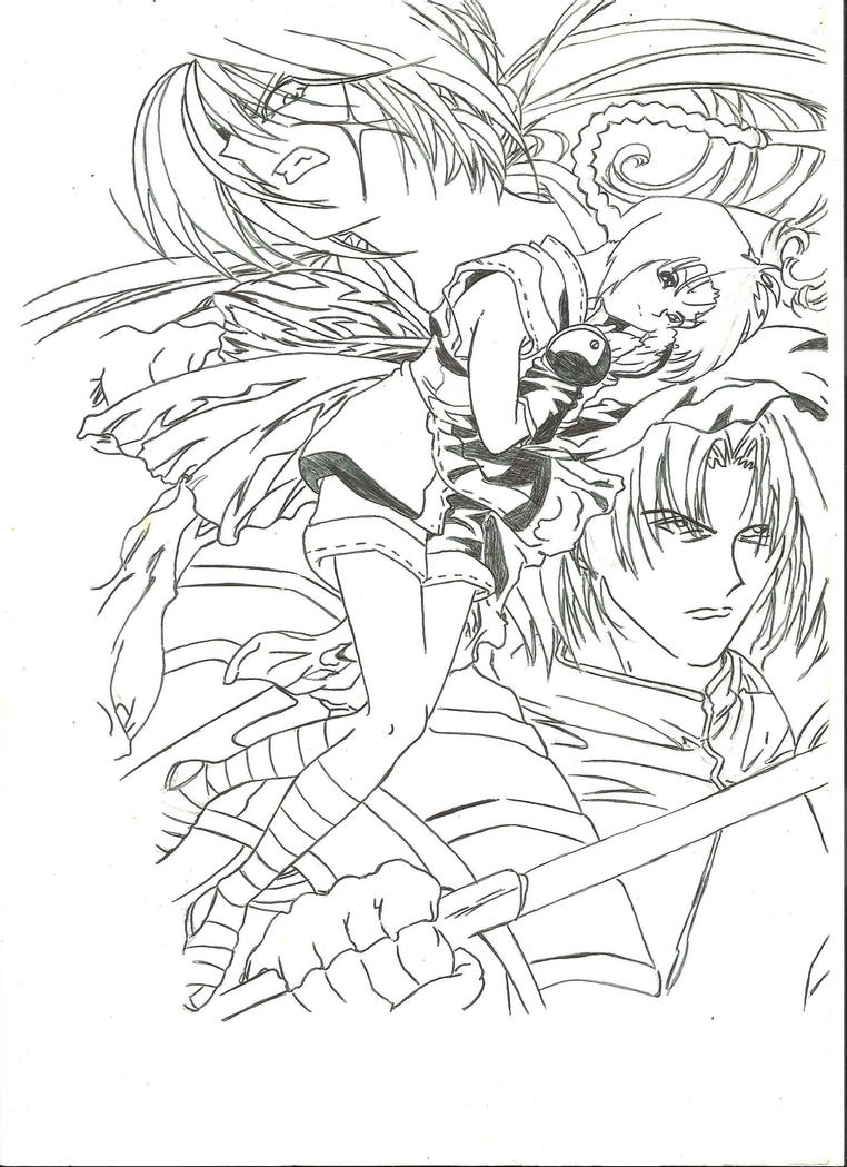 coloring pages for rurouni kenshin - photo#36