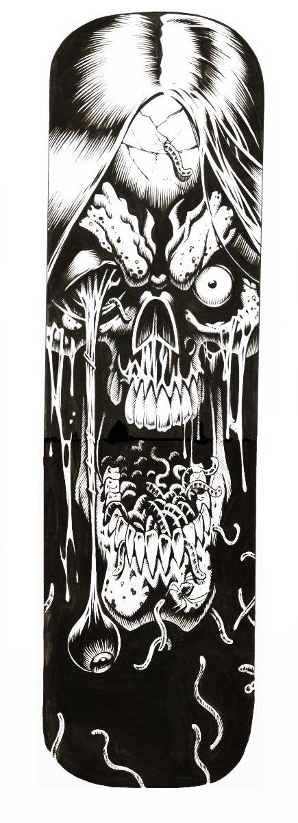 Zombie skateboard deck by jerrybeck on deviantart for Zombie balcony