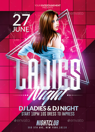 Ladies Night Party | Psd Flyer Templates by Ekxotemplate ...