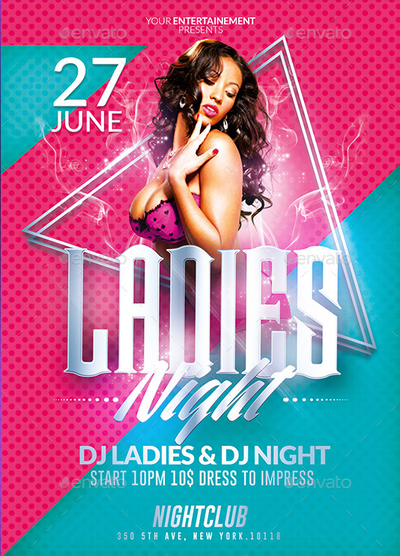 Ladies Night Party Psd Flyer Templates By Ekxotemplate On Deviantart