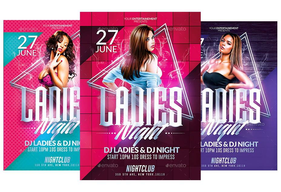 Ladies Night Party | Psd Flyer Templates Pack by ...