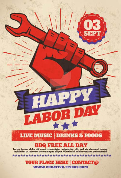 Labor Day Flyer Templates By Ekxotemplate On Deviantart