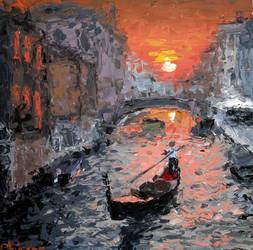 Sunset in Venice by DominiksArt