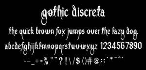 Font design - gothic discreta