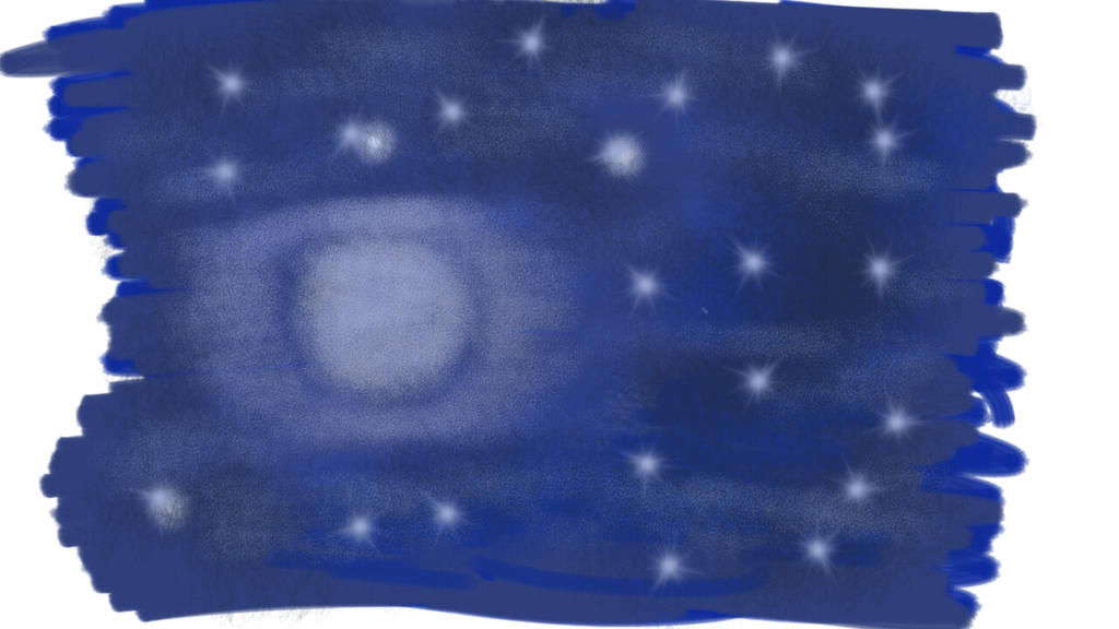 starry night - time challenge blue by Annyarej