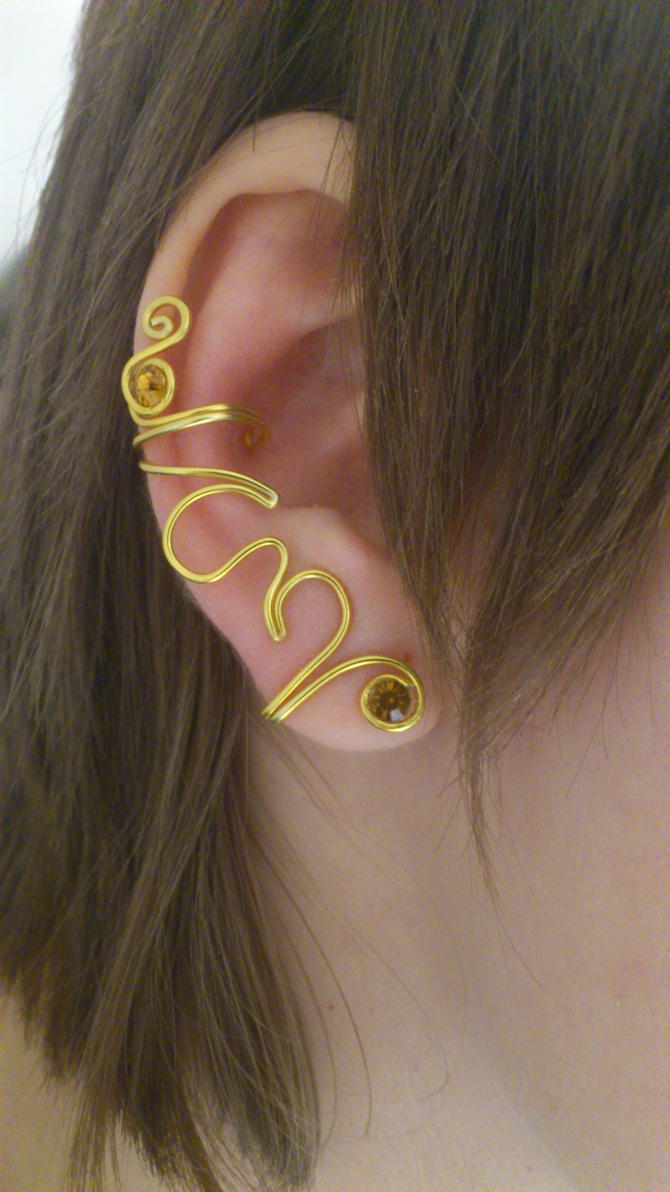 Sandman inspired Ear Cuff by 77Flower77