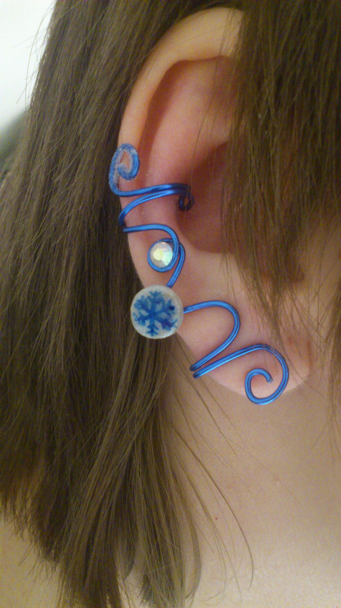 Jack Frost inspired Ear Cuff by 77Flower77